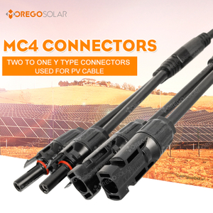 Two in One T type solar branch MC4 solar panel connector for distributor solar panel leads