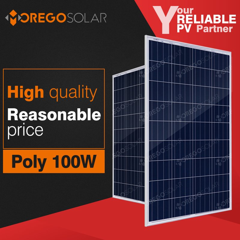 Moregosolar MG series a grade 12v 100w solar panel price with high quality