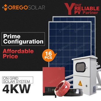 Moregosolar on grid 4kw solar system home with 6BB solar power panel solar inverter