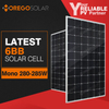 2017 latest 6BB solar cell a grade 285w mono solar panel with hot sales